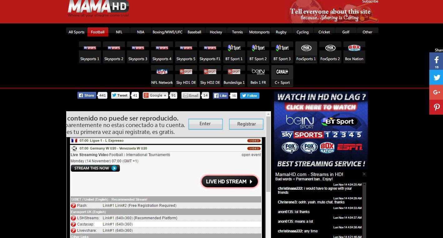 Arenavisión Televisión streaming deportes gratis