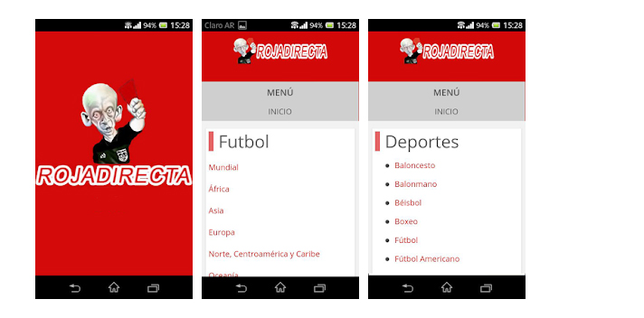 rojadirecta alternativas para el movil